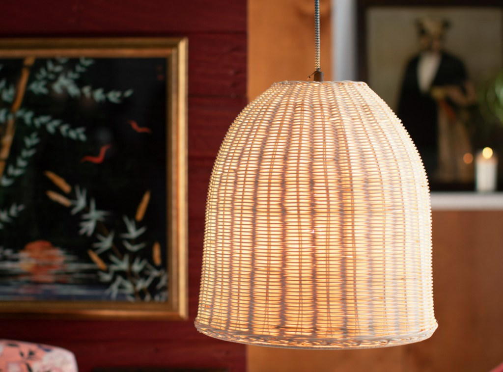Drew Barrymore Rattan Pendant Light