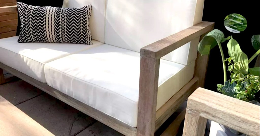 Wolrd Market Outdoor set with white cushions