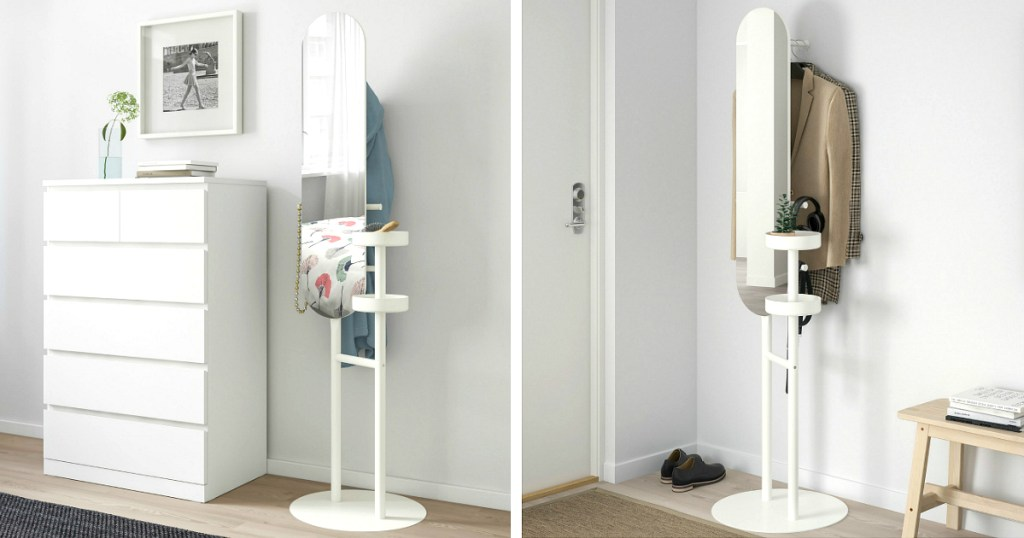 This Space Saving Ikea Valet Stand With, Mirror With Jewelry Storage Ikea
