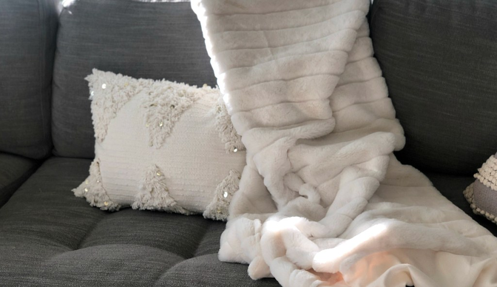 Opalhouse Cream Fringe Lumbar Pillow