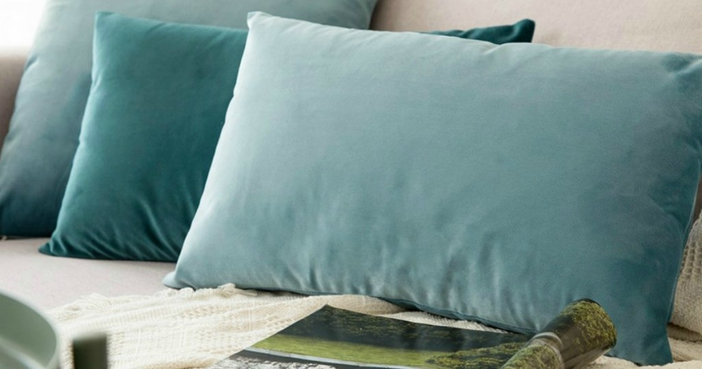 these velvet pillow covers are a
