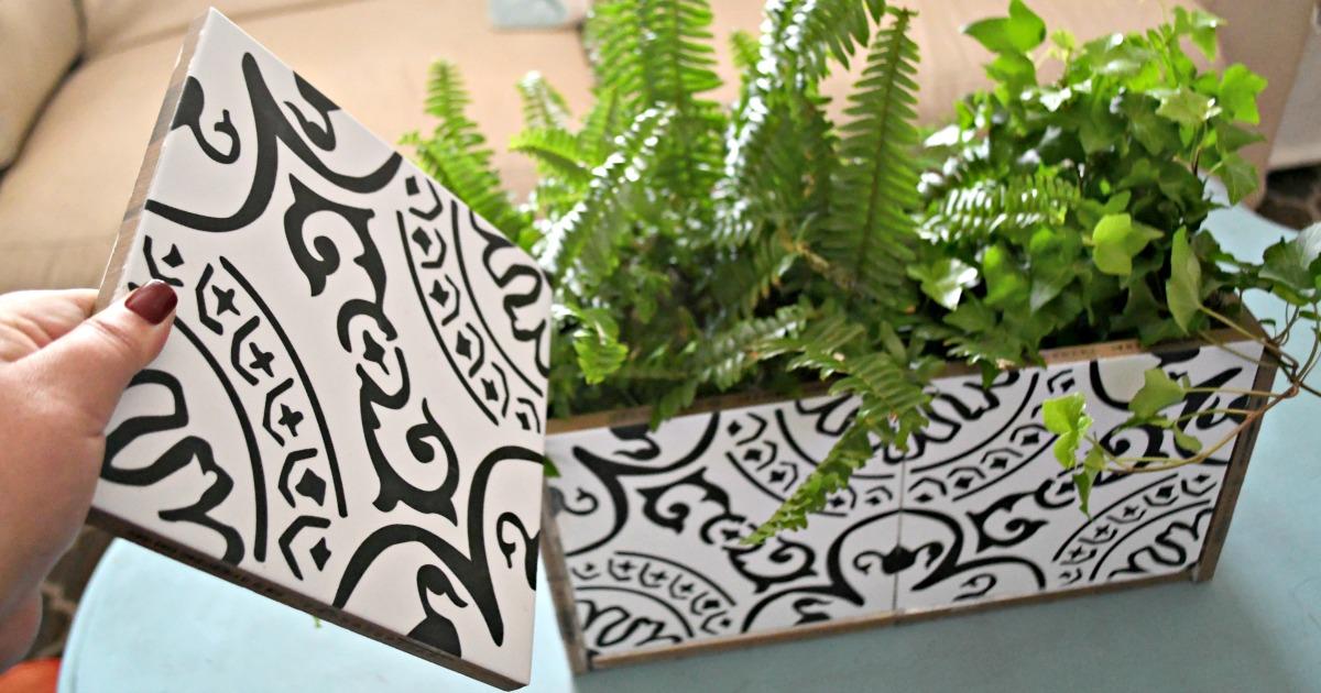 make a pretty diy planter box from