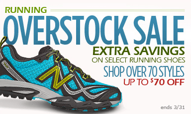 7cd6445a9b165 Also, through 3/31, be sure to check out the Running Overstock Sale with  select running shoes on sale up to $70 off! You can choose from lots of  Men's or ...