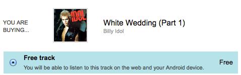 Billy idol white wedding mp3 download $1. 99   happy money saver.