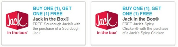Rare Buy 1 Get 1 Free Jack In The Box Coupons Hip2save