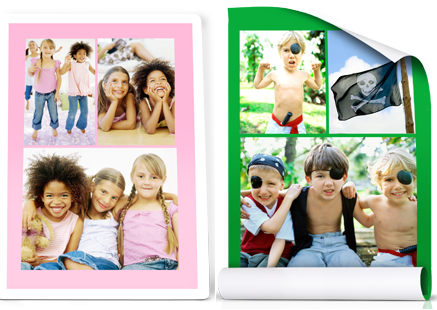 peel n stick collage or board print