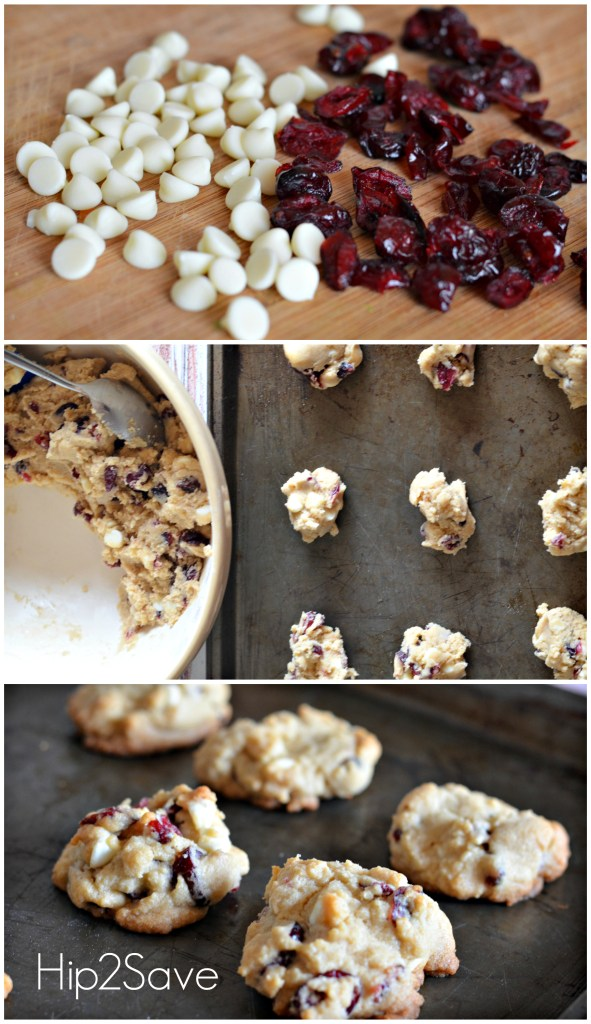 Making cranberry white chocolate chip cookies Hip2Save