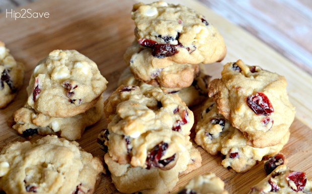 White chocolate cranberry cookies Hip2Save