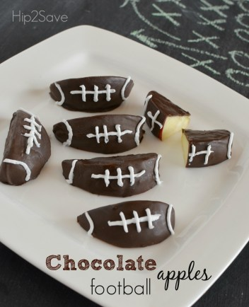 Chocolate football apple slices Hip2Save