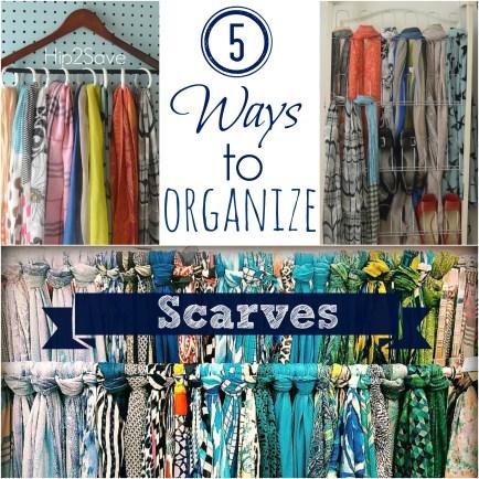 5 Ways to Organize Scarves Hip2Save