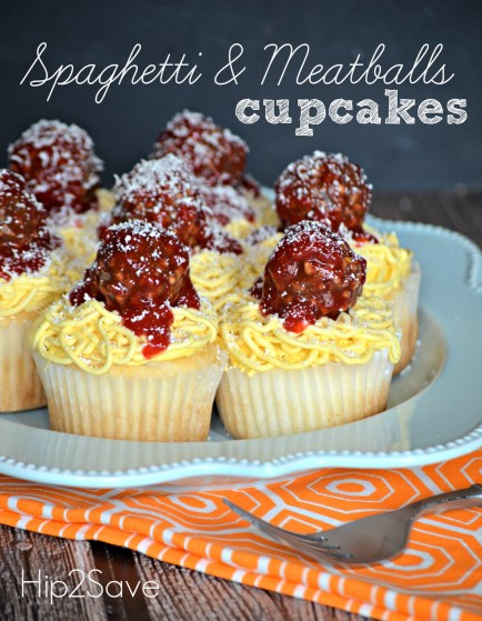 Spaghetti and Meatballs Cupcakes Recipe Hip2Save