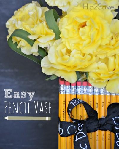 Easy Pecil Vase for teacher appreciation Hip2Save