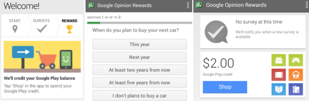 FREE Google Opinion Rewards Android App: Take Quick Surveys and Earn