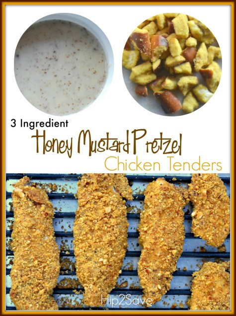 Honey Mustard Pretzel Chicken Tenders Hip2Save