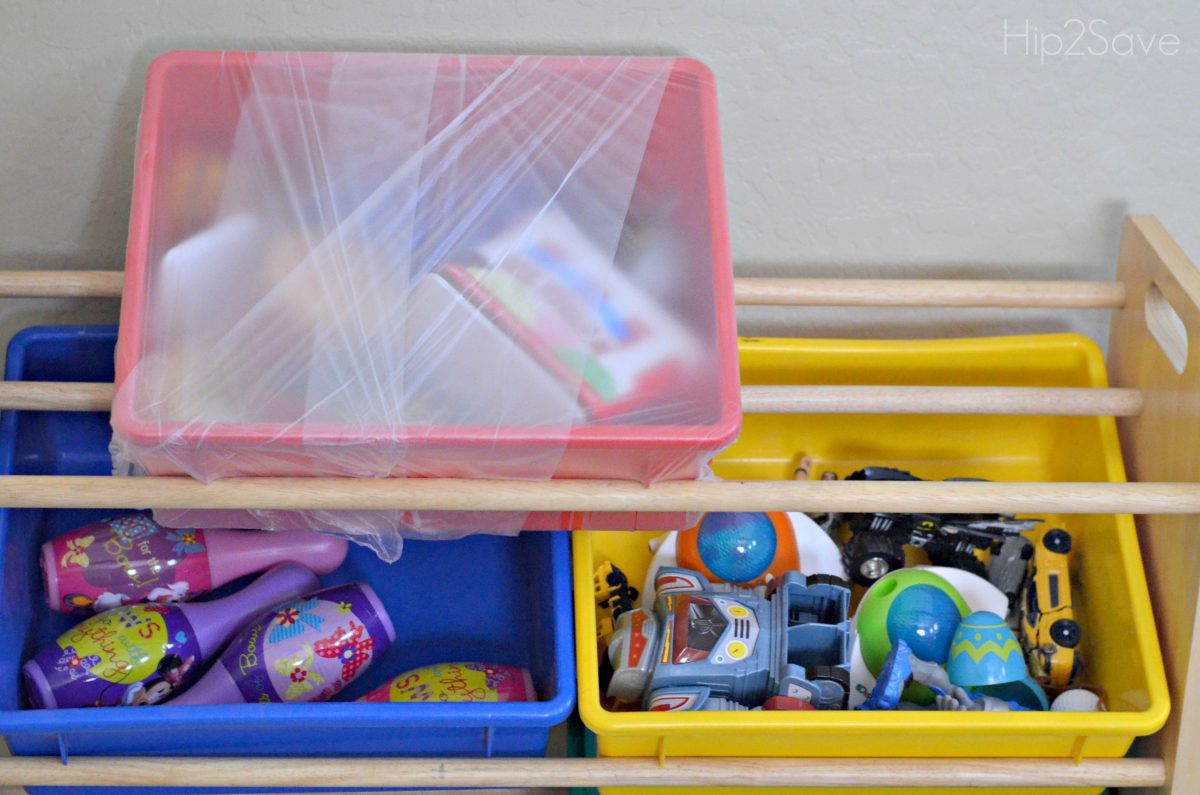 Plastic Wrap Toy Bins for Packing