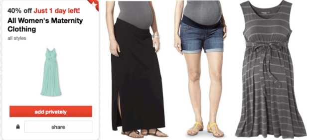7228f4b6643 Target Cartwheel  40% Off Maternity Clothing Valid Thru Tomorrow ...
