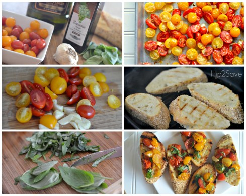 How to make bruschetta with roasted tomatoes Hip2Save