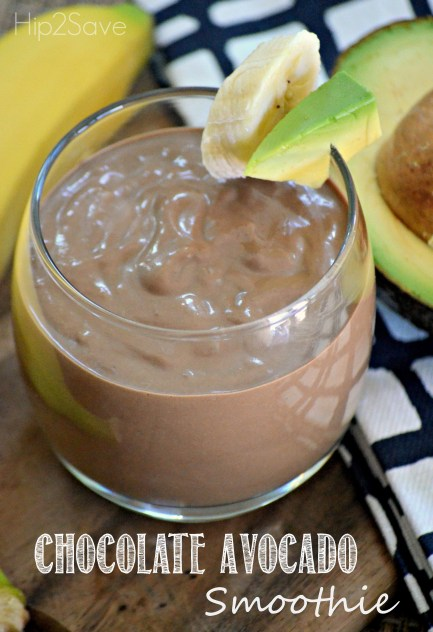 Chocolate Avocado Smoothie Hip2Save