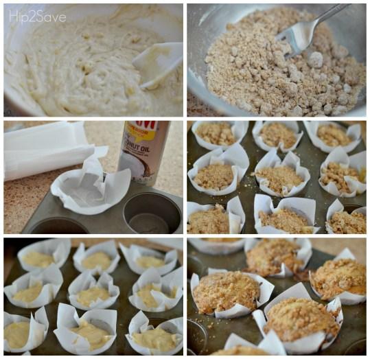 How to make banana crumb muffins Hip2Save