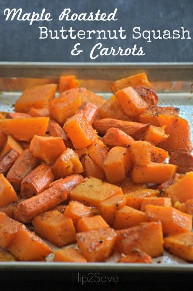 Maple Roasted Butternut Squash & Carrots