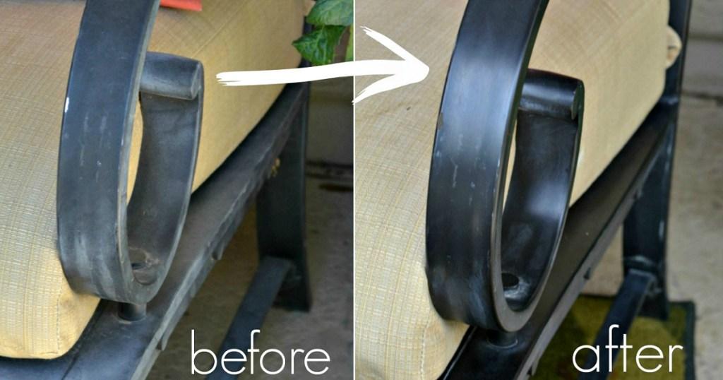 fix faded aluminum patio furniture