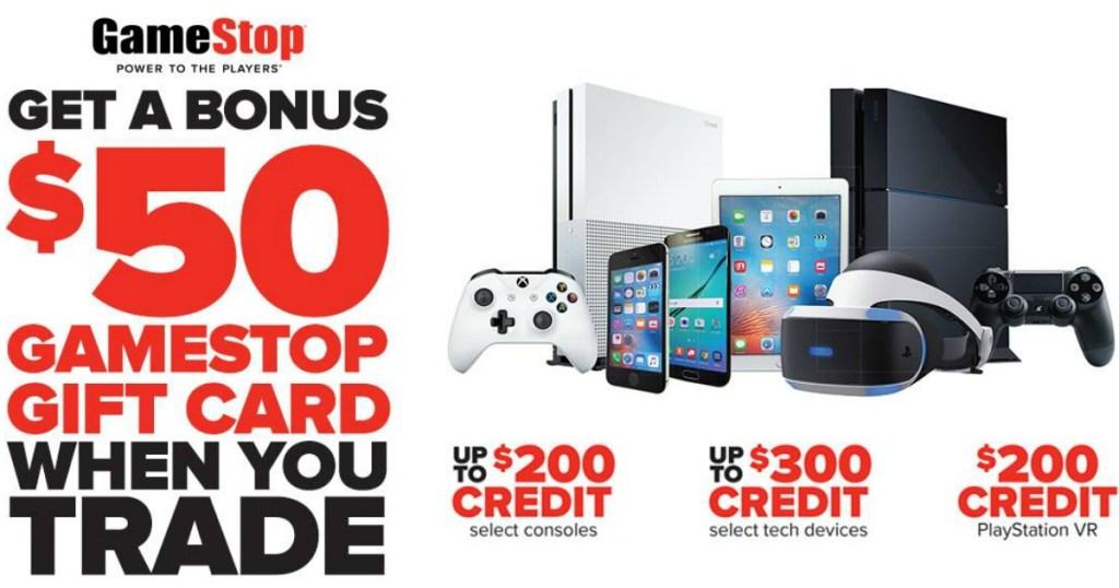 Gamestop 50 Bonus Gift Card W Eligible Device Trade In