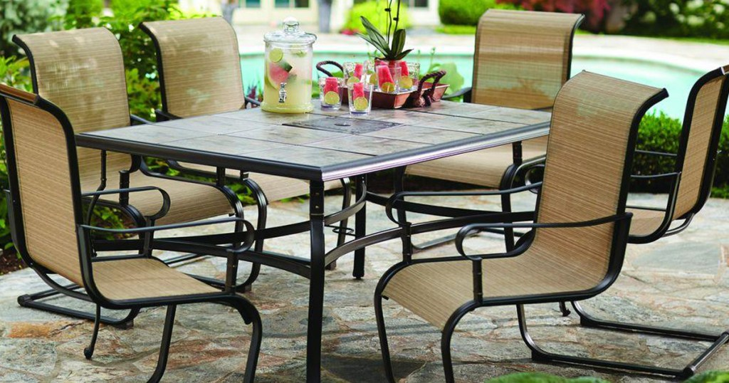 hampton bay 7 piece patio dining set