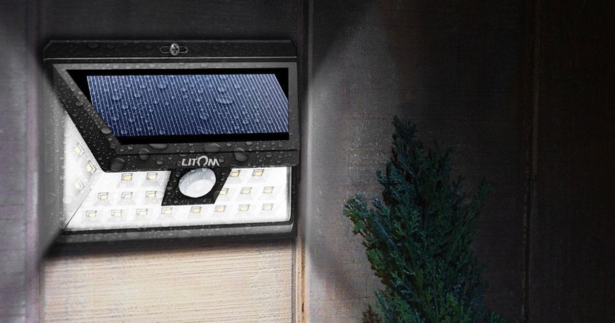 Amazon Litom Solar LED Motion Sensor Outdoor Lights As Low As 1365 Each Regularly 20