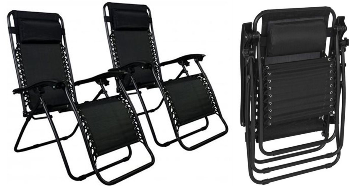 zero gravity chair 2 pack adjustable height dining two of chairs only 47 99 shipped 24 per hurry over to rakuten com and grab this patio in black for just regularly 54 when you use promo code
