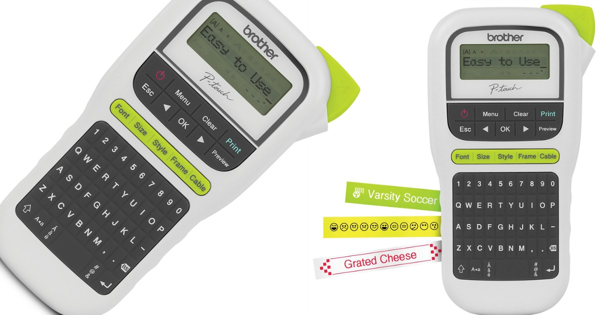 Brother P Touch Handheld Label Maker Only 9 99 Shipped Regularly 34 99 Hip2save