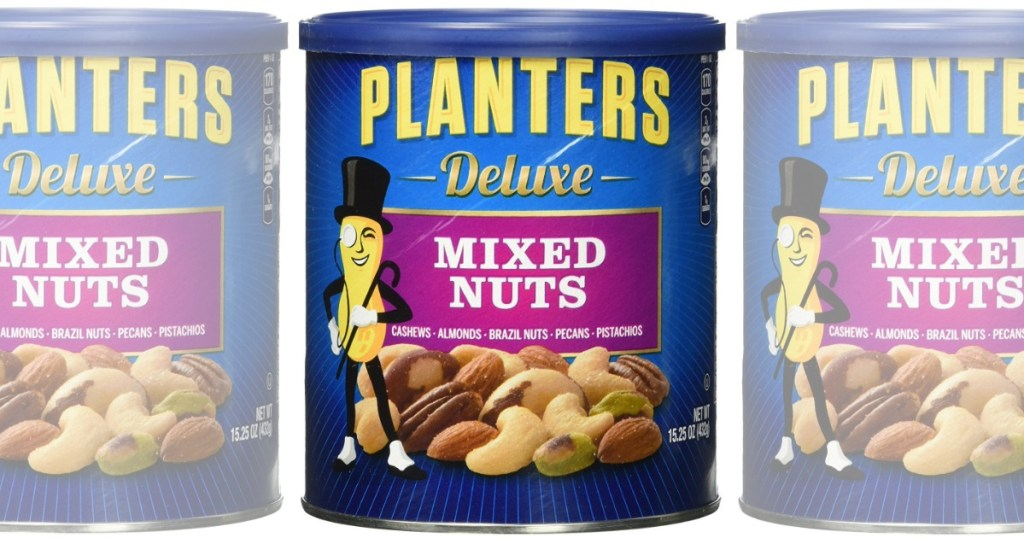 Amazon Planters Deluxe Mixed Nuts 15oz Canister Just 6