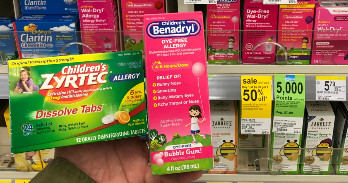 Childrens Benadryl & Zyrtec As Low As $2.74 Each After ...