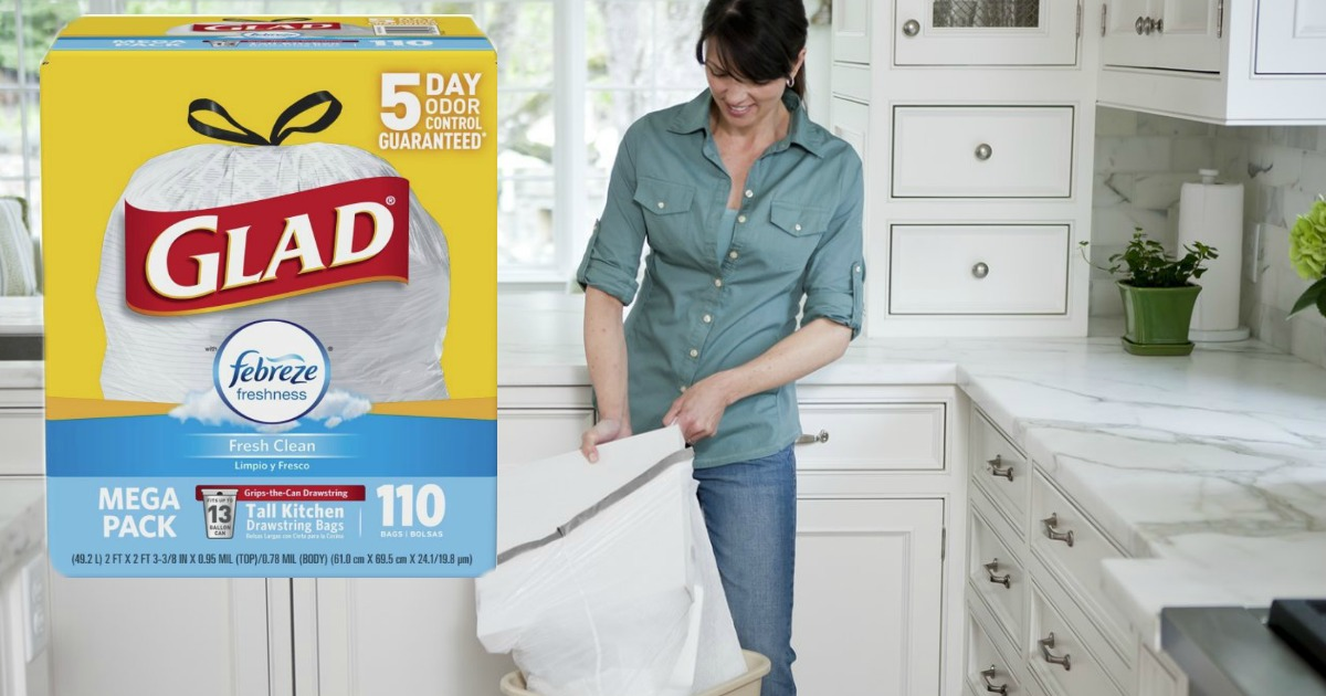 glad tall kitchen drawstring trash bags island cost amazon 110 count only 13 shipped share this