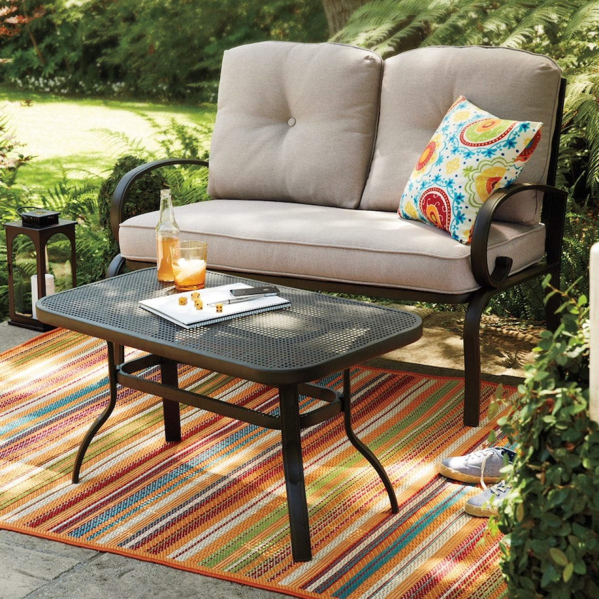 sonoma outdoor loveseat coffee table