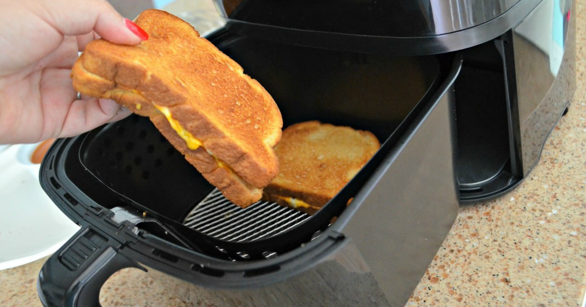 Make A Perfect Grilled Cheese Using The Air Fryer Hip2save