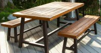 Amazon: Christopher Knight Home Rustic Wood Picnic Table w ...