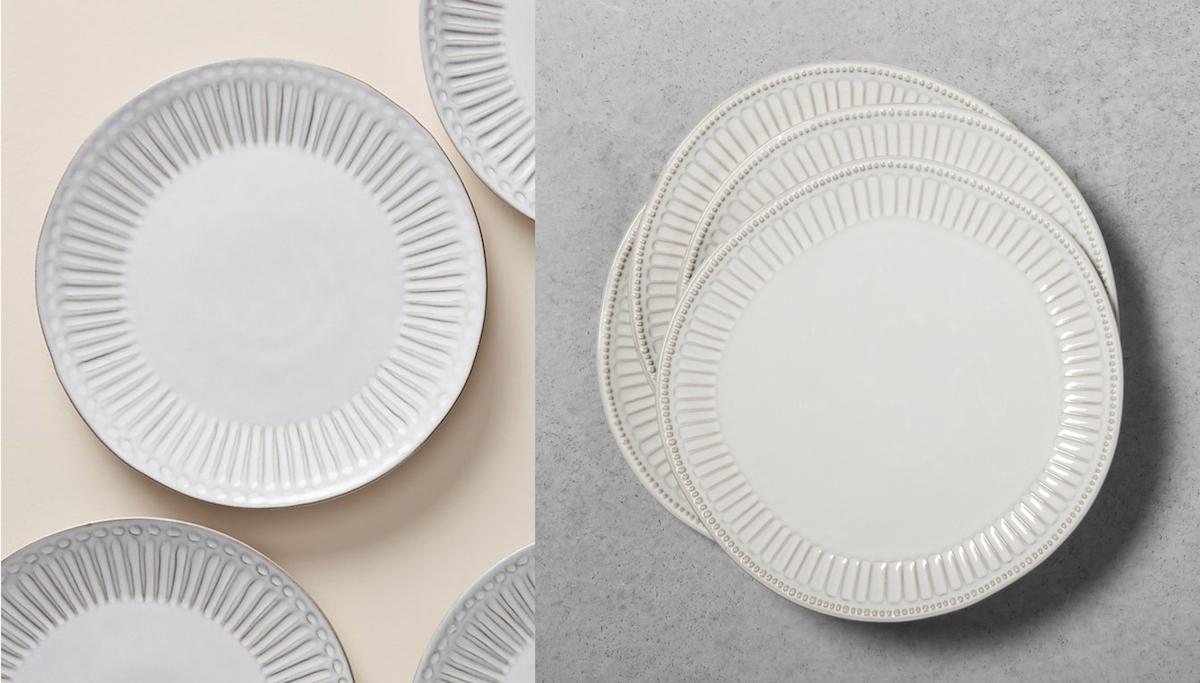 anthropologie copycat target walmart finds – anthropologie and target dinner plates