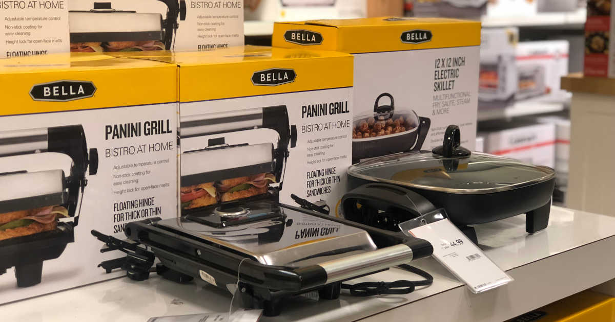 bella kitchen hotels with in los angeles appliances only 9 99 after macy s rebate panini grill toaster oven more