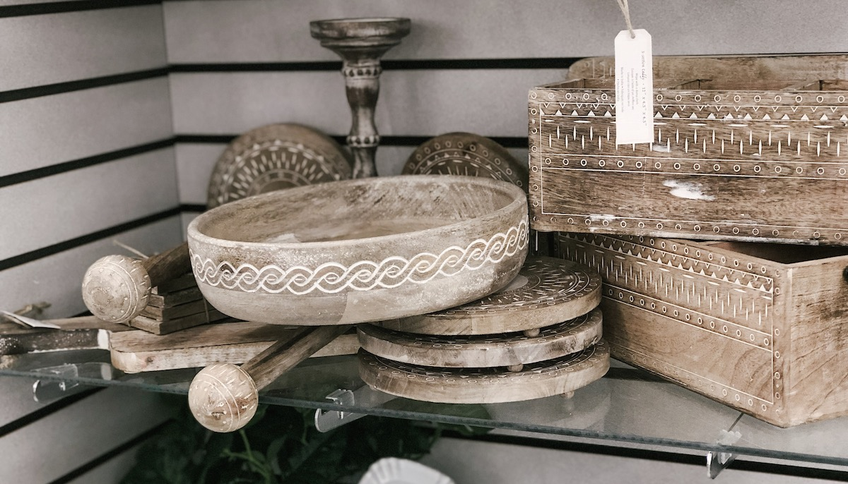 global tribal carved bowl at hobby lobby