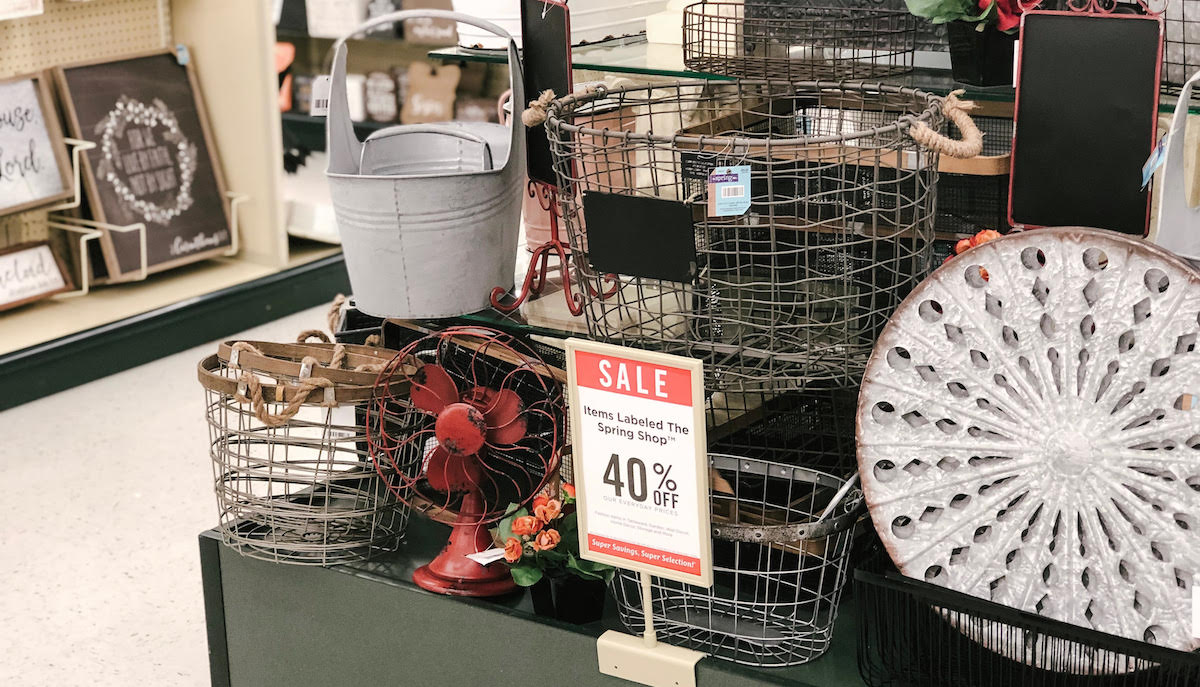 hobby lobby rustic western red fan and western decor wire baskets