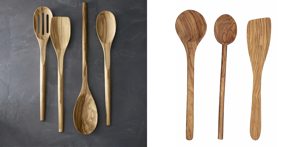 williams sonoma home copycat budget – olivewood cooking spoons side by side comparison