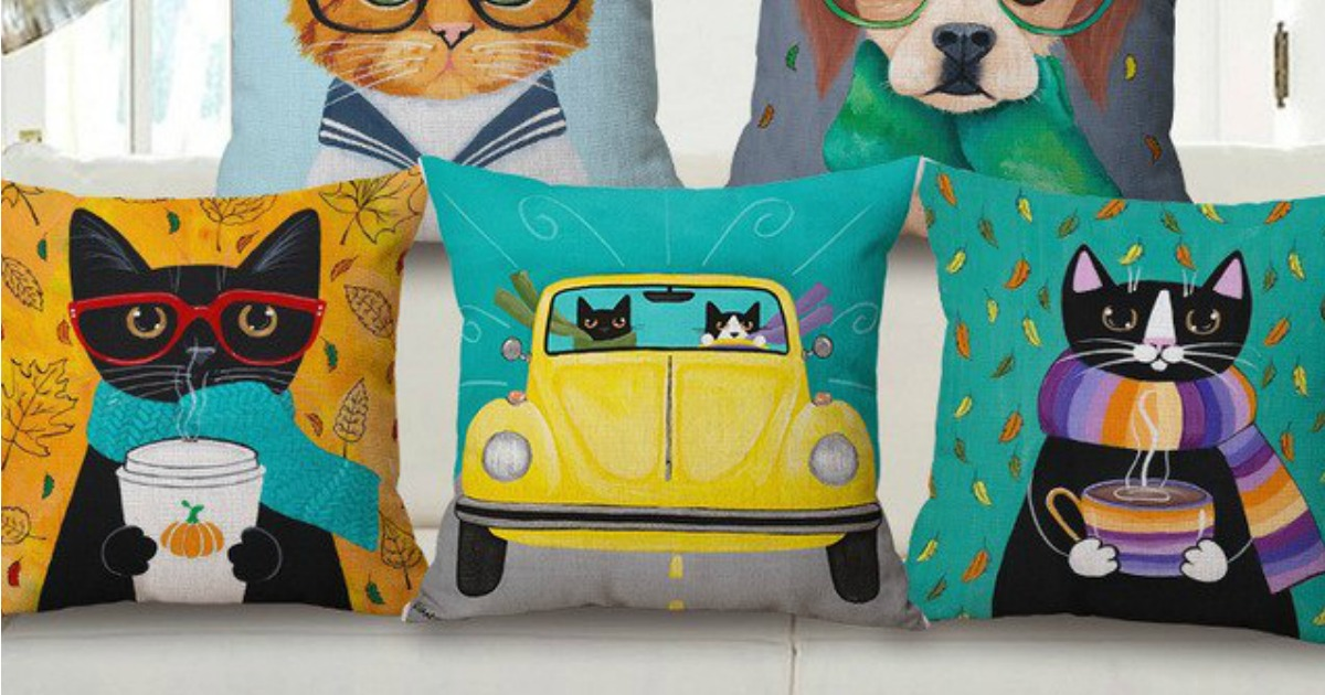 funny dog cat pillow covers as low as