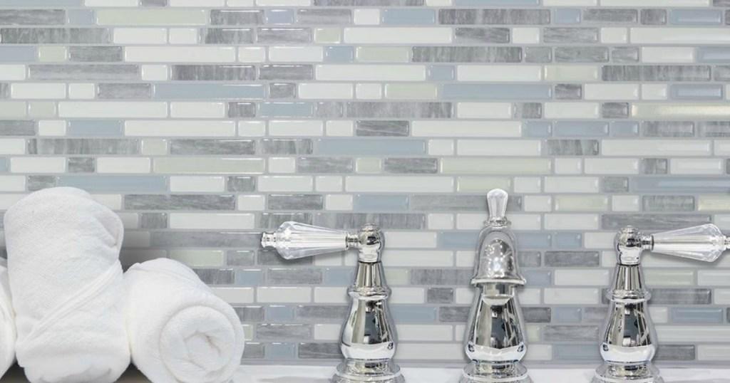 stick backsplash tiles at home depot