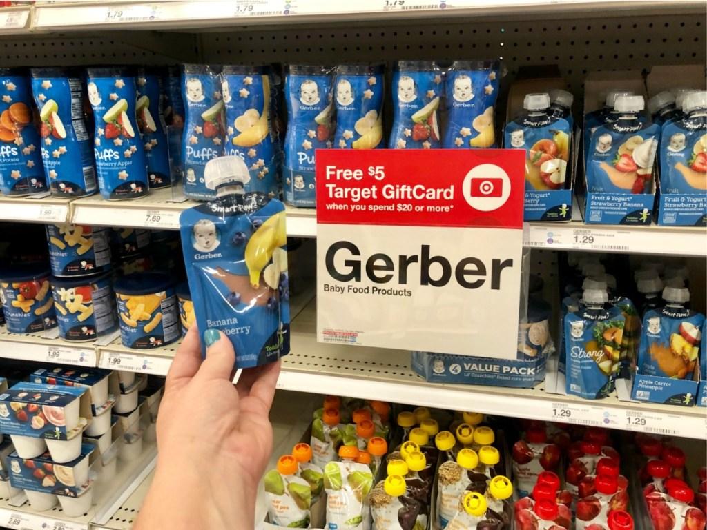 new gerber baby food