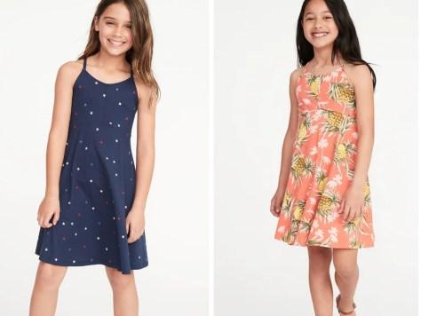 girls star dress and pineapple dress
