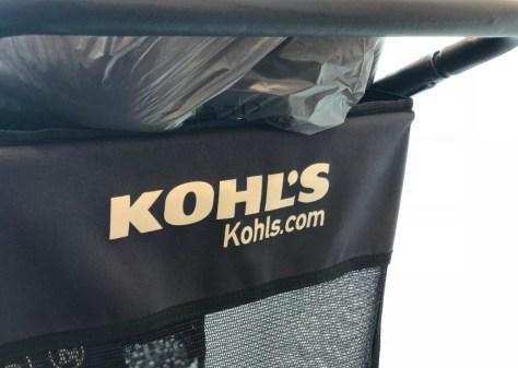 Kohl's shopping cart full of shopping bags