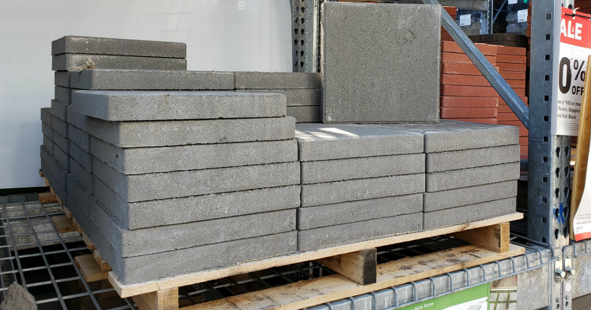 square concrete patio stones only 1