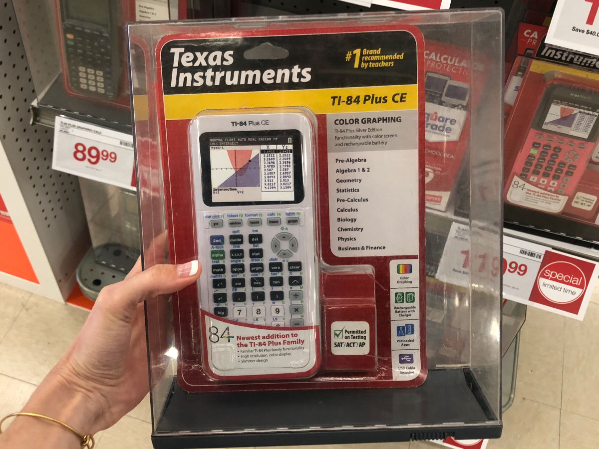 White Texas Instruments Ti 84 Plus Ce Graphing Calculator