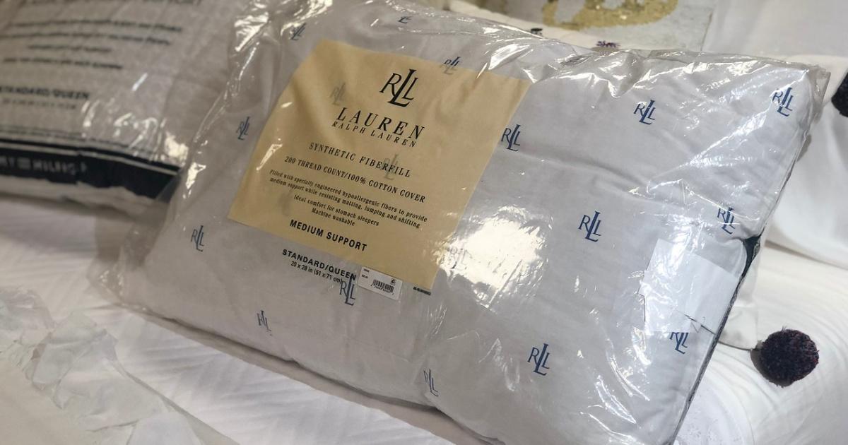 ليس كافي مدينة مؤثر lauren ralph lauren logo pillow
