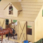 Wooden Horse Barn Toy Model Only 39 99 Shipped Regularly 195 Hip2save